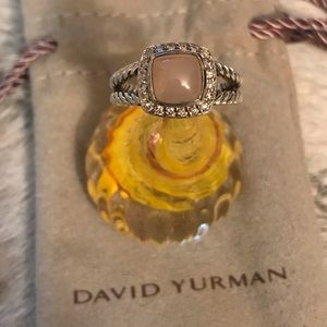 David Yurman Petite Albion Ring in Rose Quartz